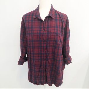 Madewell blue and red flannel